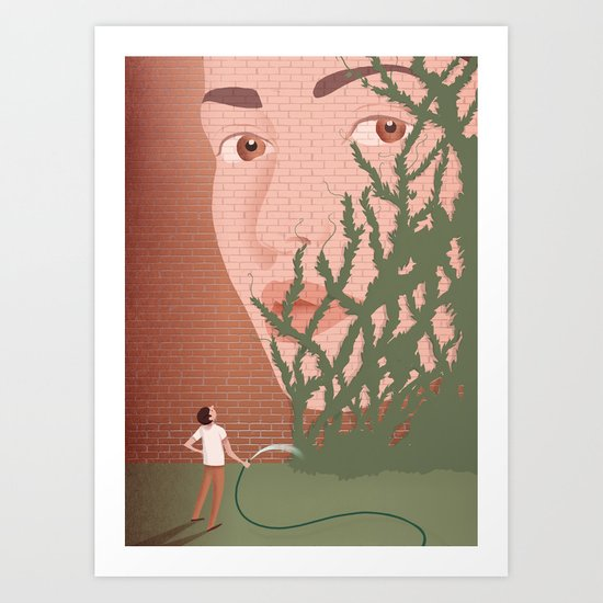 Learn to forget Art Print