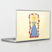 sleeping beauty Laptop & iPad Skins featuring Sleeping Beauty by Sara Showalter
