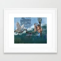 chess Framed Art Prints featuring Chess by Illu-Pic-A.T.Art