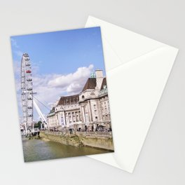 Postcard Picture of the London Eye & The Thames, bright blue tint Stationery Cards
