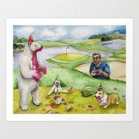 Watermelon Day Art Print