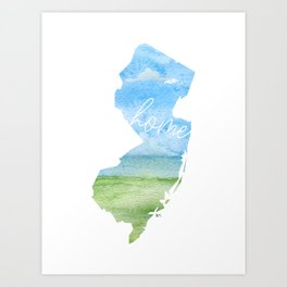 New Jersey Home State Art Print