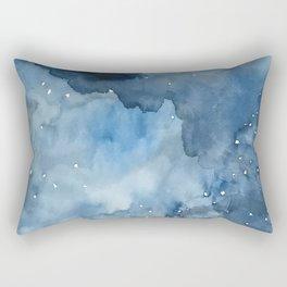 Night Tide Watercolor Rectangular Pillow