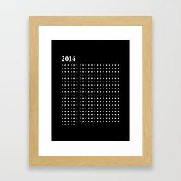 2014 WHITE HEARTS Framed Art Print