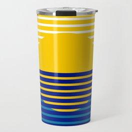 Yellow Split Sun Travel Mug