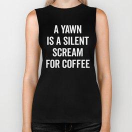 Scream For Coffee Funny Quote Biker Tank
