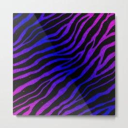 Ripped SpaceTime Stripes - Pink/Blue Metal Print