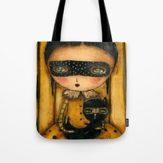 The Halloween Witch And The Black Cat Tote Bag