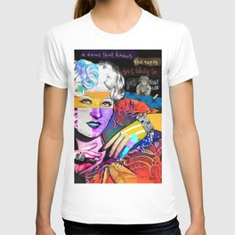 Mae West Collage Art T-shirt