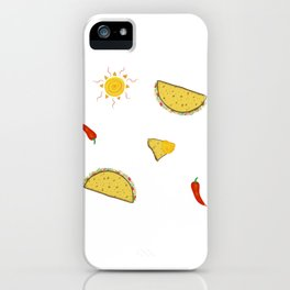 Hot Pepper Taco Party iPhone Case