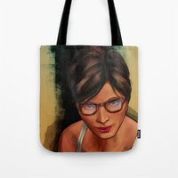 grand theft auto Tote Bags featuring Grand Theft Auto Online Characters - The Beauty of The Damned by W_Flemming