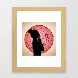 Jappo silhouette Framed Art Print