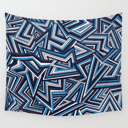 Support Creativity Crazy Zigs Wall Tapestry