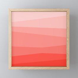 Diagonal Living Coral Gradient Framed Mini Art Print