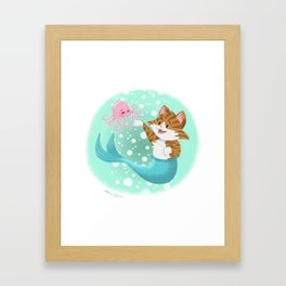 Bubbly Purrmaid Framed Art Print