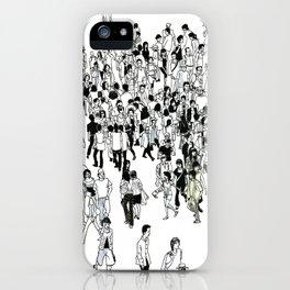 Shibuya Street Crossing Crowd iPhone Case