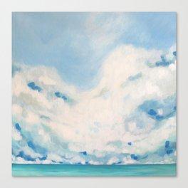 white blur Canvas Print