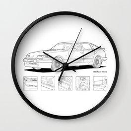 Rover Vitesse 1986 Illustration Wall Clock