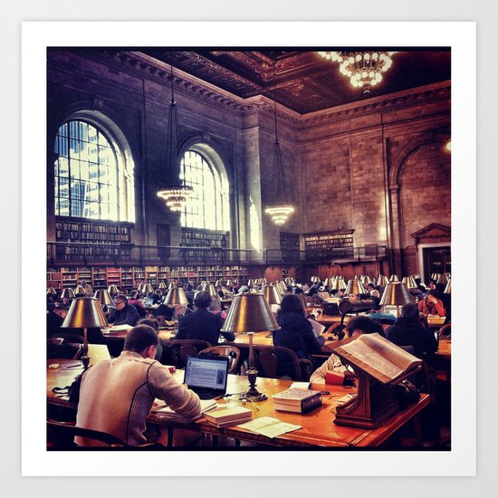Reading Room Art Print