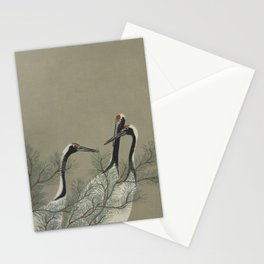 Japanese Red Crowned Crane Stationery Cards