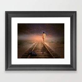 male nude art  Framed Art Print