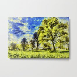 English Summer Farm Van Gogh Metal Print