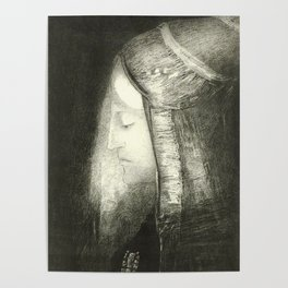 "Odilon Redon ""Profile of Light (Profil de lumière)"" Poster"