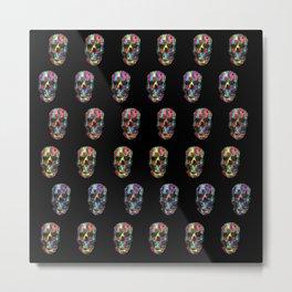 skulls pattern Metal Print