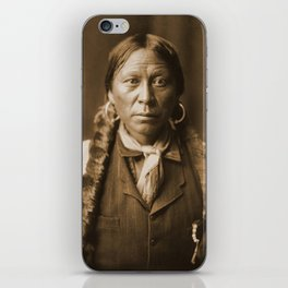 Native American Apache Portrait by Edward Curtis, 1904 iPhone Skin