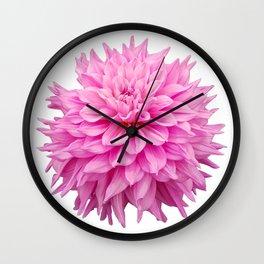 Floral Art Pink Dahlia Wall Clock