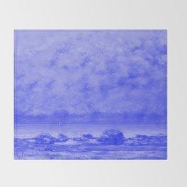 The Black Rocks at Trouville Japanese Porcelain Concept Throw Blanket