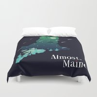 maine Duvet Covers featuring Almost, Maine by Typo Negative