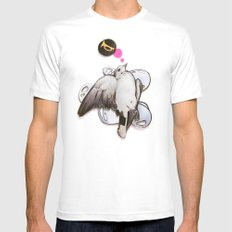 toot! | Collage White MEDIUM Mens Fitted Tee