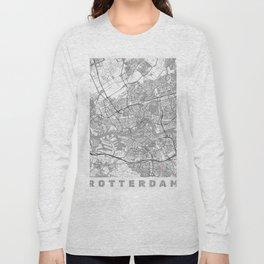 Rotterdam Map Line Long Sleeve T-shirt
