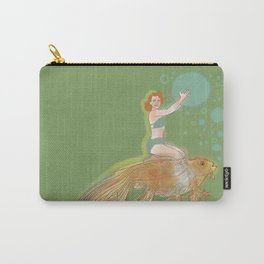 Woman with Koi #1 Carry-All Pouch