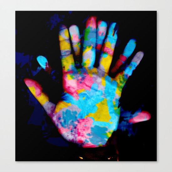 """Graffiti Hands"" Canvas Print"