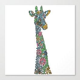 Colorful giraffe artwork Canvas Print