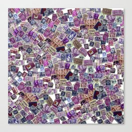 The World in Purple Canvas Print