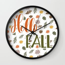 Hello Fall Wall Clock
