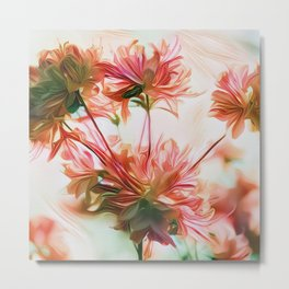 Flower Fantasy - Coral Metal Print