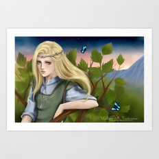 In the Treetops Art Print