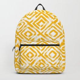 Amber Yellow Geometric Print Backpack