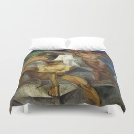 Young Bathers by George Pauli Nude Male Art Duvet Cover