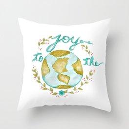 Joy to the World Christmas Throw Pillow