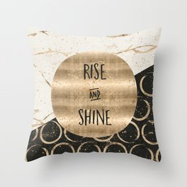 GRAPHIC ART Rise and shine Throw Pillow