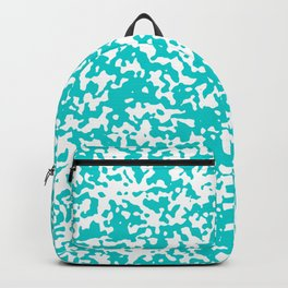 Small Spots - White and Cyan Backpack