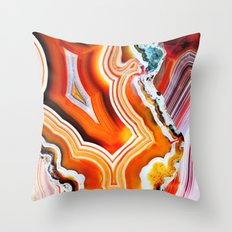 The Vivid Imagination of Nature, Layers of Agate Throw Pillow