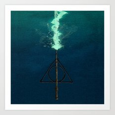 Harry Potter Deathly Hollows Expecto Patronum Art Print