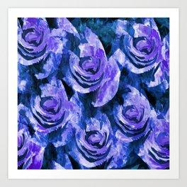 Bold Lavender Blue Roses Art Print