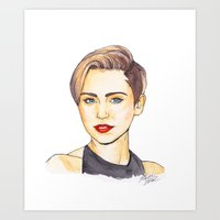 miley Art Prints featuring Miley by Kaitlin Polak